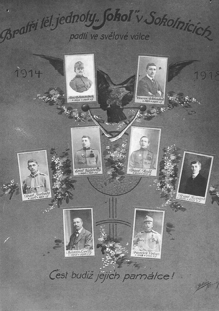 bratři Sokola padlí ve světové válce